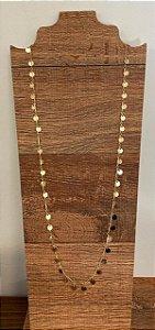 Colar Confete Dourado Longo - 70cm
