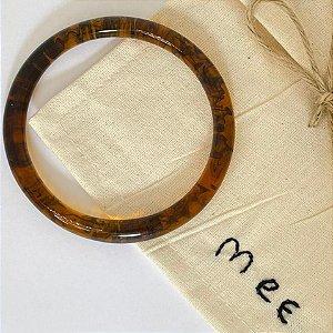 Bracelete Fino de Resina - Tartaruga