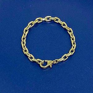 Pulseira Corrente Elos - 17 cm - Dourada