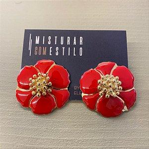Brinco Flor Sevilha - Vermelha