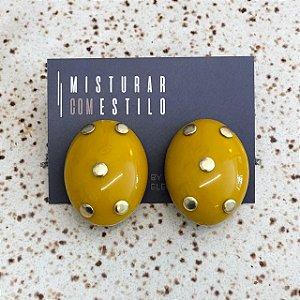 Brinco Cristina Oval - Mostarda