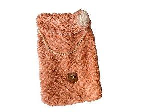 casaco de Pele Rose