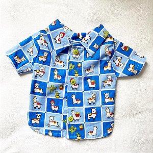 Camisa de Botão lhama