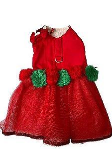 Vestido com tule Vermelho
