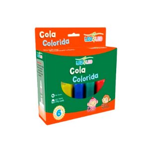 COLA COLORIDA 20G 6 CORES
