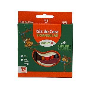GIZ DE CERA 12 CORES TRINGULAR COLOR/NEON/METÁLICO