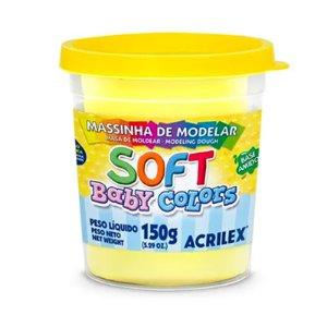 MASSINHA DE MODELAR SOFT BABY COLORS AMARELO BEBE