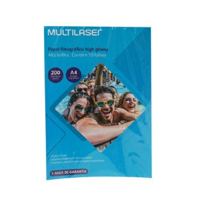 PAPEL FOTOGRÁFICO HIGH GLOSSY A4 10F 200G