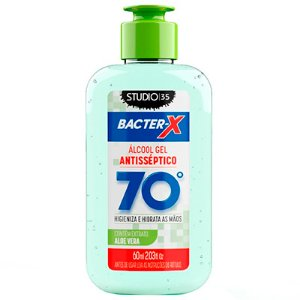 ÁLCOOL GEL 70% 60ML STUDIO 35 VERDE ALOE VERA