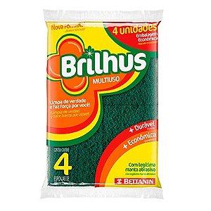 ESPONJA MULTIUSO BRILHUS C/4 UNIDADES