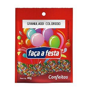 CONFEITO GRANULADO COLORIDO 40G SACHÊ