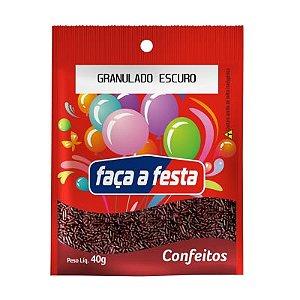 CONFEITO GRANULADO ESCURO 40G SACHÊ