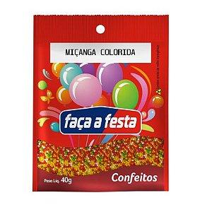 CONFEITO MICANGA COLORIDO 40G SACHÊ