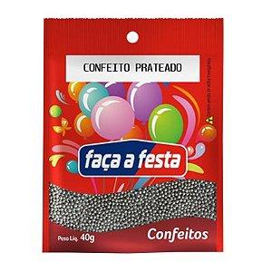 CONFEITO PRATEADO 40G SACHÊ