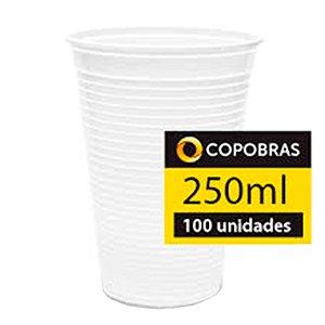 COPO PLÁSTICO 250 ML BRANCO 20X100