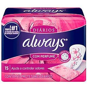 ALWAYS PROTETOR DIÁRIO C/ PERFUME 15UN