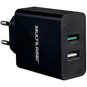 CARREGADOR DE PAREDE CONCEPT 2 PORTAS USB QUICK CHARGER PR