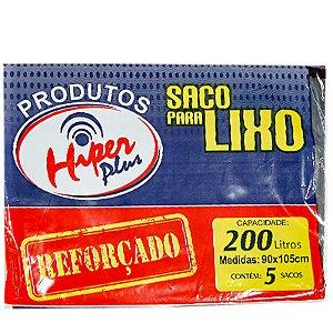 SACO LIXO 200LT C/5 UND HIPER PLUS