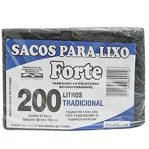 SACO LIXO 200LT C/5 UND FORTE