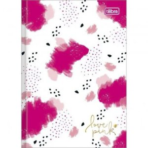 CADERNO BROCHURA CD UN LOVE PINK 80 F