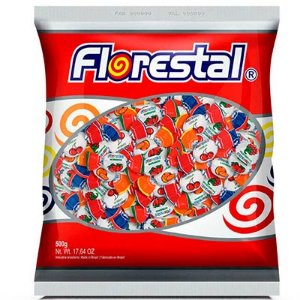 BALA FRUTAS RECHEADA 500G FLORESTAL
