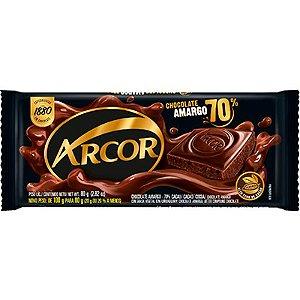 TABLETE CHOCOLATE 80G ARCOR AMARGO 70%