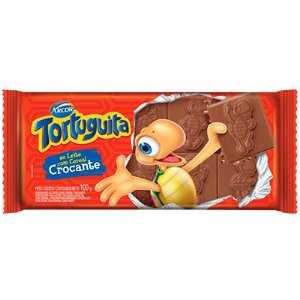 TABLETE CHOCOLATE TORTUGUITA 100G CROCANTE