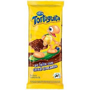 TABLETE CHOCOLATE TORTUGUITA 50G AO LEITE CROCANTE