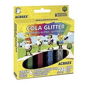 COLA GLITTER 23G C/ 6CORES