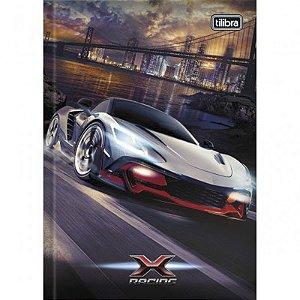 CADERNO ESPIRAL CD 1/4 X-RACING 80FLS