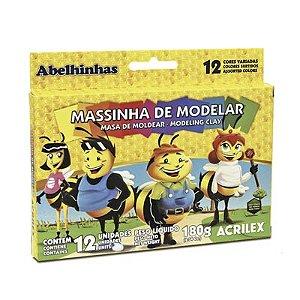 MASSINHA DE MODELAR 180G C/12CORES