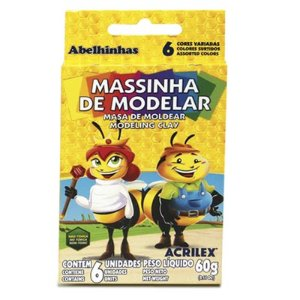 MASSINHA DE MODELAR 60G C/6 CORES