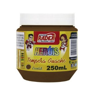 TINTA GUACHE ESCOLAR ASUPER RADEX 250ML MARROM
