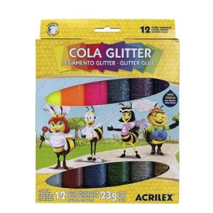 COLA GLITTER 12 CORES