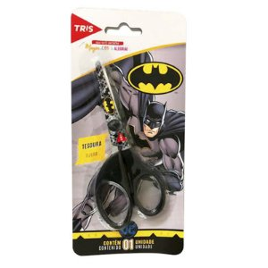 TESOURA ESCOLAR 13CM BATMAN TRIS
