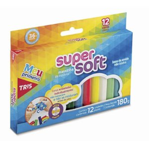 MASSINHA DE MODELAR SUPER SOFT 180G 12 CORES