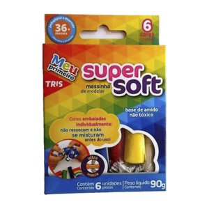 MASSINHA DE MODELAR SUPER SOFT 90G 6CORES
