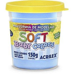 MASSINHA DE MODELAR SOFT BABY COLORS AZUL BEBE