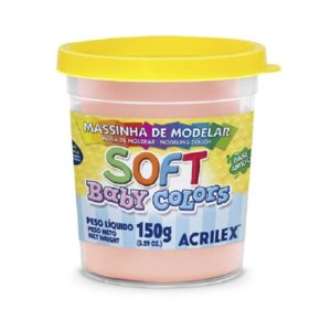 MASSINHA DE MODELAR SOFT BABY COLORS SALMAO BEBÊ