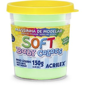 MASSINHA DE MODELAR SOFT BABY COLORS VERDE BEBÊ