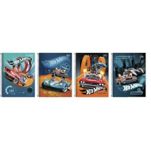 CADERNO 10 MATÉRIAS CD HOT WHEELS