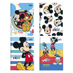 CADERNO BROCHURA CD 1/4 MICKEY 80FLS