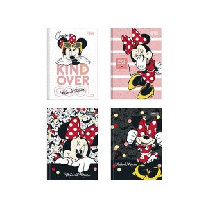 CADERNO BROCHURA CD 1/4 MINNIE 80FLS