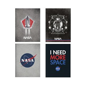 CADERNO BROCHURA CD UN NASA 80FLS