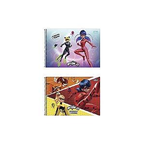 CADERNO DE CARTOGRAFIA E DESENHO CD MIRACULOUS 80FLS