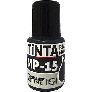 TINTA REABASTECEDORA P/ MARCADOR PERMANENTE PRETO MP-15