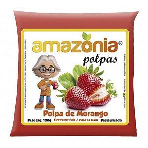 POLPA DE MORANGO PACOTE 100G AMAZÔNIA
