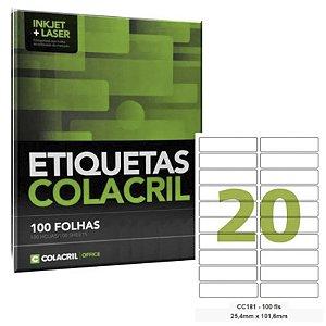 ETIQUETAS ADESIVAS P/IMPRESSORAS INKJET+LASER 254MMX1016MM