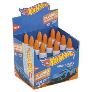 COLA BRANCA 40G HOT WHEELS TRIS