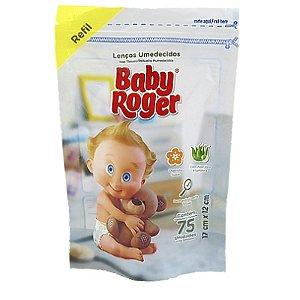 LENÇO UMEDECIDO REFIL C/75 UNIDADES BABY ROGER PACOTE